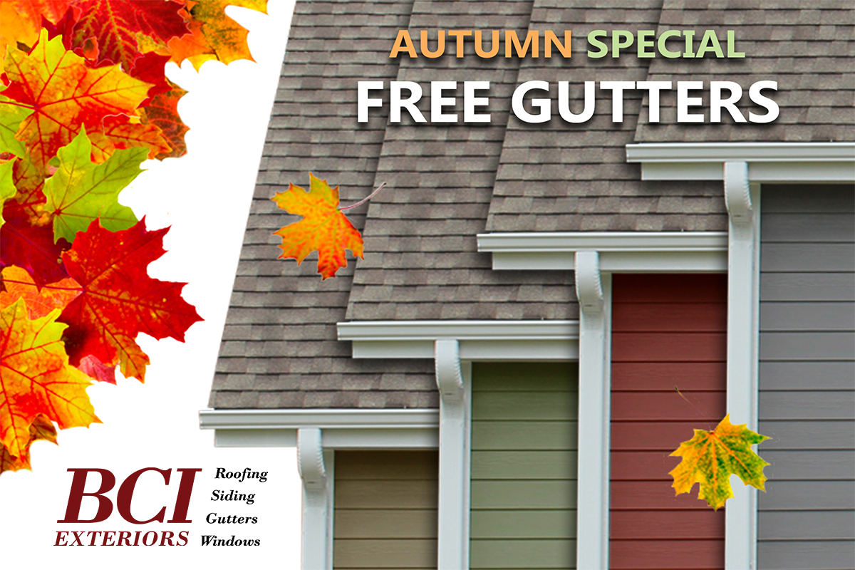 Free Gutters BCI Exteriors Autumn Special