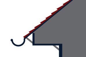 Half Round Style Gutter Graphic