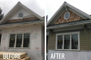 before and after james hardie shake siding transformation