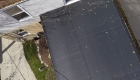 close up house rubber flat roof