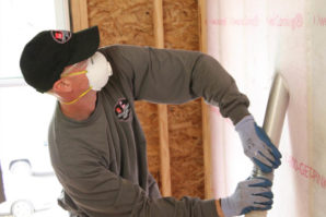 Owens Corning blow-in fiberglass wall insulation