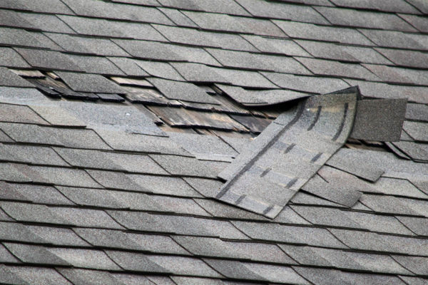 damaged roof shingles needs repair