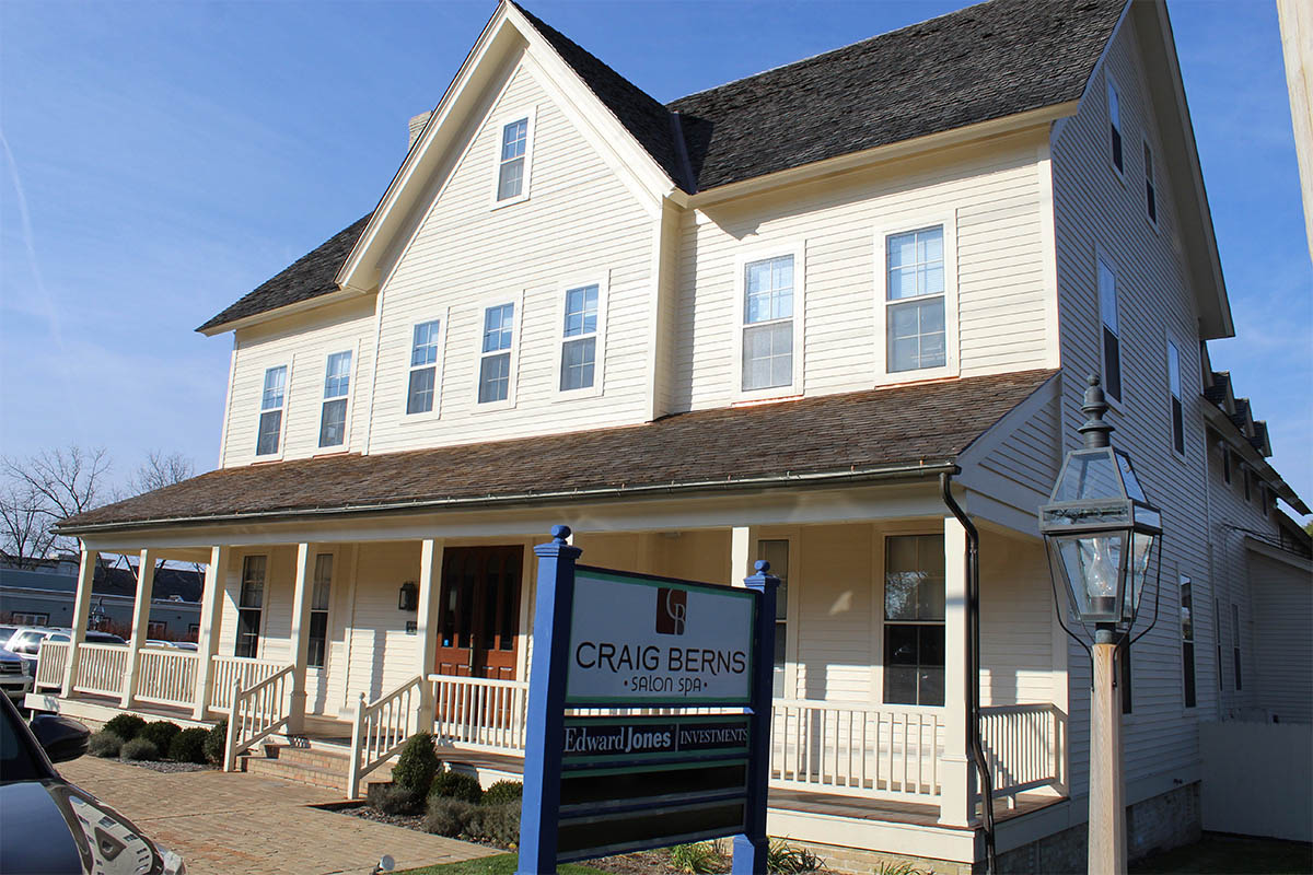 Craig Berns Salon Spa porch cedar roof
