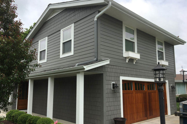 Grey James Hardie Siding