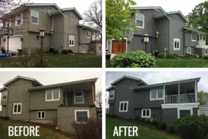 before and after grey siding