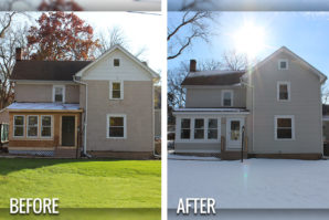 vinyl siding before and after Delafield Wisconsin