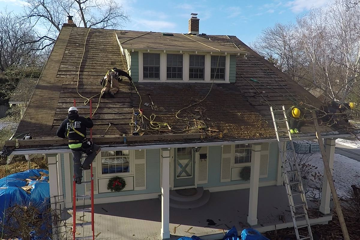 Roof Tear Off Down To The Deck West Bend Bci Exteriors