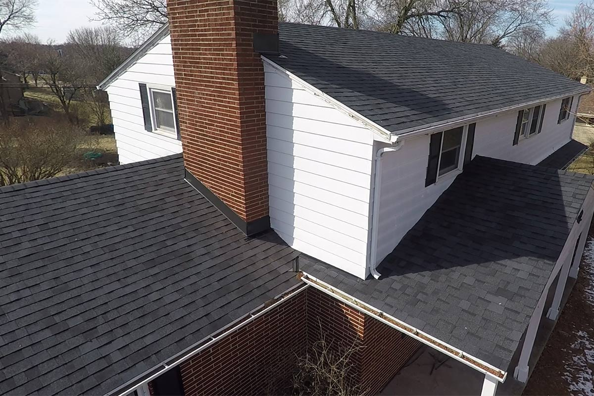 Wind Damaged Roof Replacement Germantown Bci Exteriors